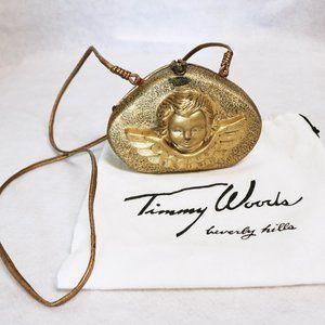 Timmy Woods Wooden Cherub Clutch